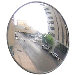 Economy Outdoor Convex Mirror 45cm (With Wall Bracket)