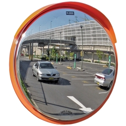 Convex Mirror Prem OD SS with visor 840mm 50 60&76MM Post Mount 6422P