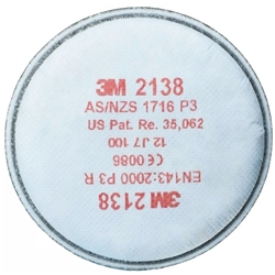 3M™ 2138 GP2/GP3 Particulate Filter w/ Nuisance Level Organic Vapour/Acid Gas Relief (Pair)