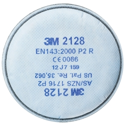 3M™ 2128 GP2 Particulate Filter w/ Nuisance Level Organic Vapour/Acid Gas Relief (Pair)