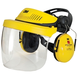 3M™ Headgear G500 Yellow Combo Polycarconate Faceshield G500V5F11H510-GU
