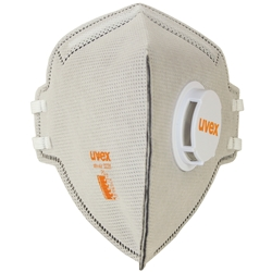uvex silv-Air classic Flat Fold P2 Carbon Filtered Disposable Respirator w/valve 8733-228 (Bx 15)