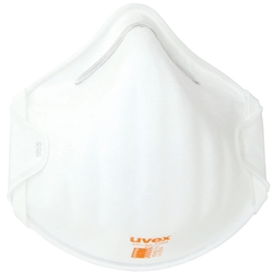 uvex silv-Air classic P2 Cupped Disposable Respirator 2208 P2 No Valve (Bx 20)