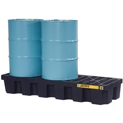 JUSTRITE EcoPolyBlend™ 3 Drum In-Line Spill Control Pallet 28703