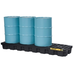 JUSTRITE EcoPolyBlend™ 4 Drum In-Line Spill Control Pallet 28631