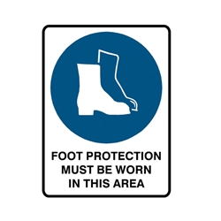 Safety Footwear Must Be Worn Metal Sign 300x225mm