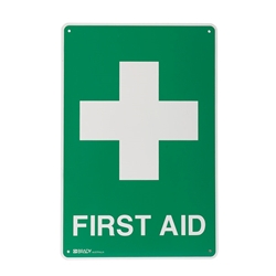 First Aid Poly Sign 600x450mm