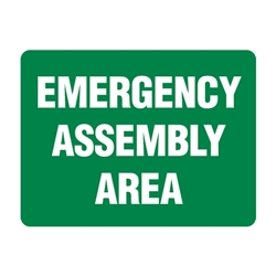 Emergency Assembly Area Metal Sign 300x225mm
