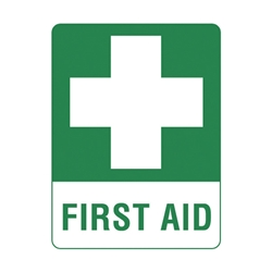 First Aid Vinyl Sticker 250 x 180mm