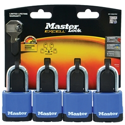 Master Lock® 45mm Excell Covered Padlocks M116QLFAU (Pk 4)