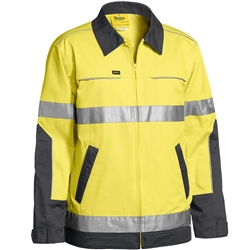 Bisley 3M™ Taped Two Tone Hi-Vis Water Repellent Drill Jacket