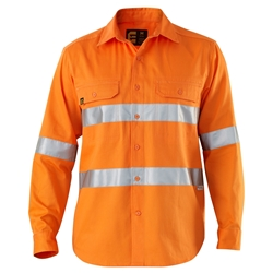 ELEVEN Workwear Hi-Vis Long Sleeve Drill Shirt with 3M™ Tape