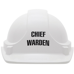 UniSafe White Chief Warden Specialty Safety Helmet