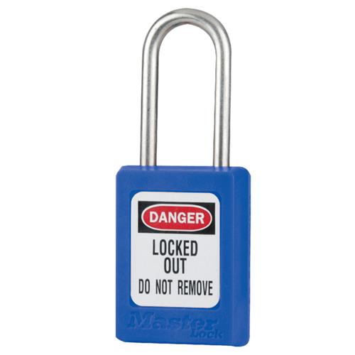 Master Lock® Blue Compact Zenex™ Thermoplastic Safety Padlock w/ Cover S31BLU