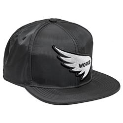 SAINT WORKS Wing Logo Black Snapback Cap