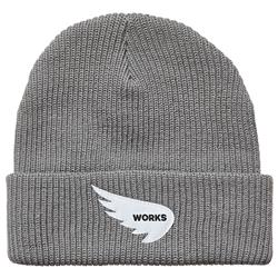 SAINT WORKS Wing Logo Grey Beanie