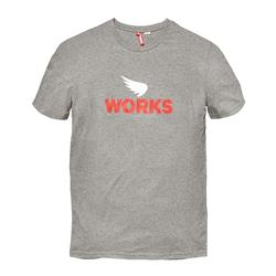 Saint Works Wing Logo Tee Charcoal Marle 4075C
