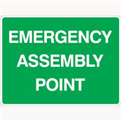 Emergency Assembly Point Poly Sign 600x450mm