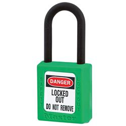 Master Lock® Green Dielectric Zenex™ Thermoplastic Safety Padlock 406GRN