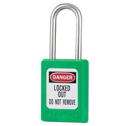 Master Lock® Green Compact Zenex™ Thermoplastic Safety Padlock w/ Cover S31GRN