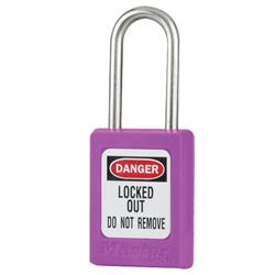 Master Lock® Purple Compact Zenex™ Thermoplastic Safety Padlock w/ Cover S31PRP