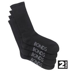 BONDS Cotton Work Socks (Pk 2)